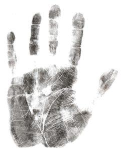 EIN HANDABDRUCK - eine Handgeschichte